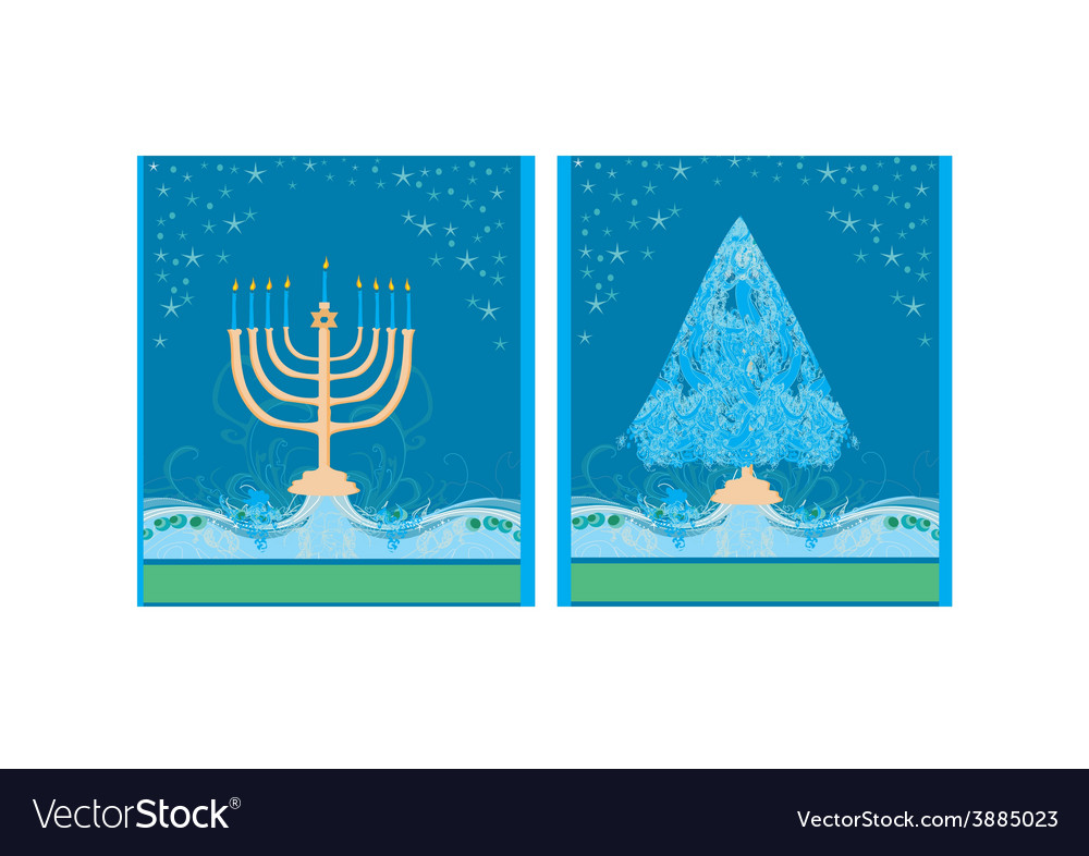 Pair of Happy Holidays cards with Christmas tree