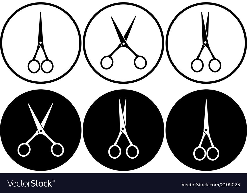 Scissors in frame
