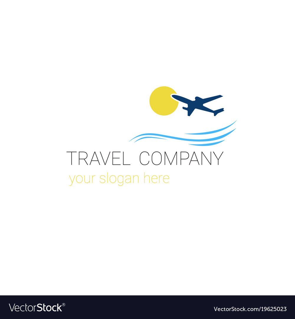 travel company logo template tourism agency banner
