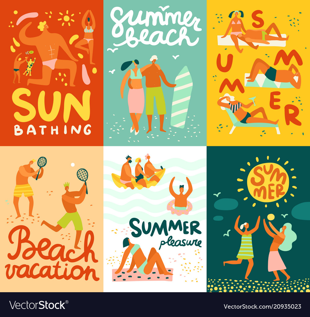 Vacation flat cards