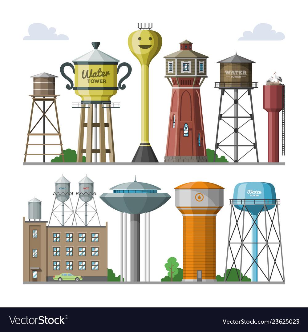 Water tower tank storage watery resource