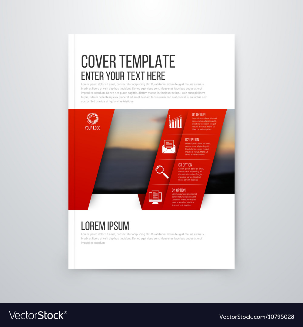brochure design template flyer royalty free vector image