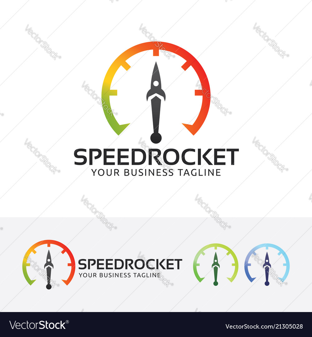 Speed rocket logo design