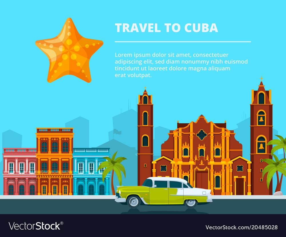 Urban landscape of cuba different historical