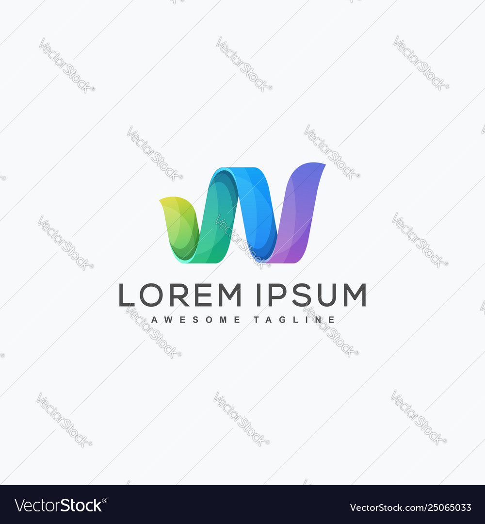 Abstract letter w design template