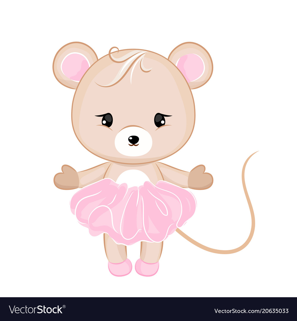 Cartoon mouse in dress