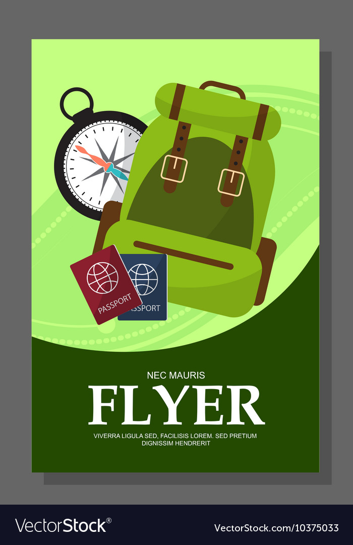 Flyers with the concept of a hike in the mountains