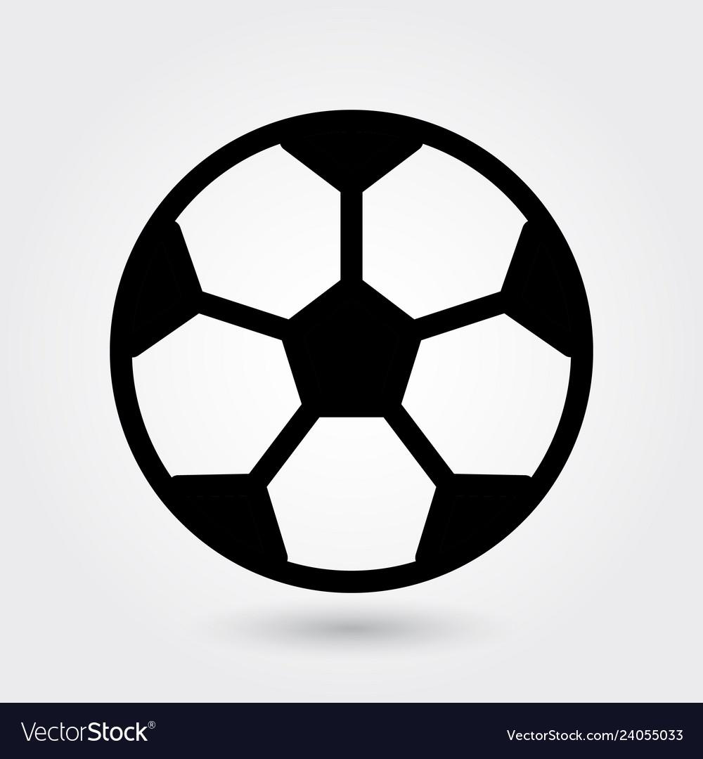 Football icon soccer ball icon sports ball symbol