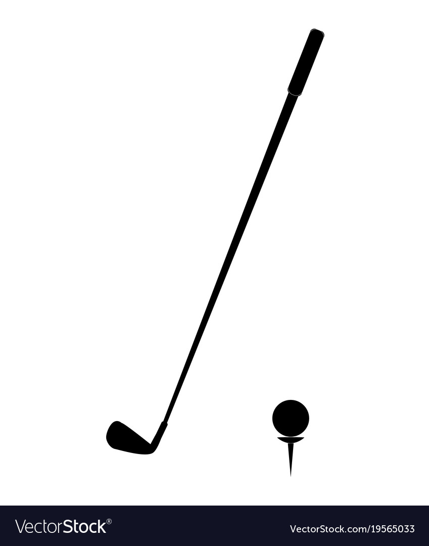 Golf icon on white background golf icon simple vector image