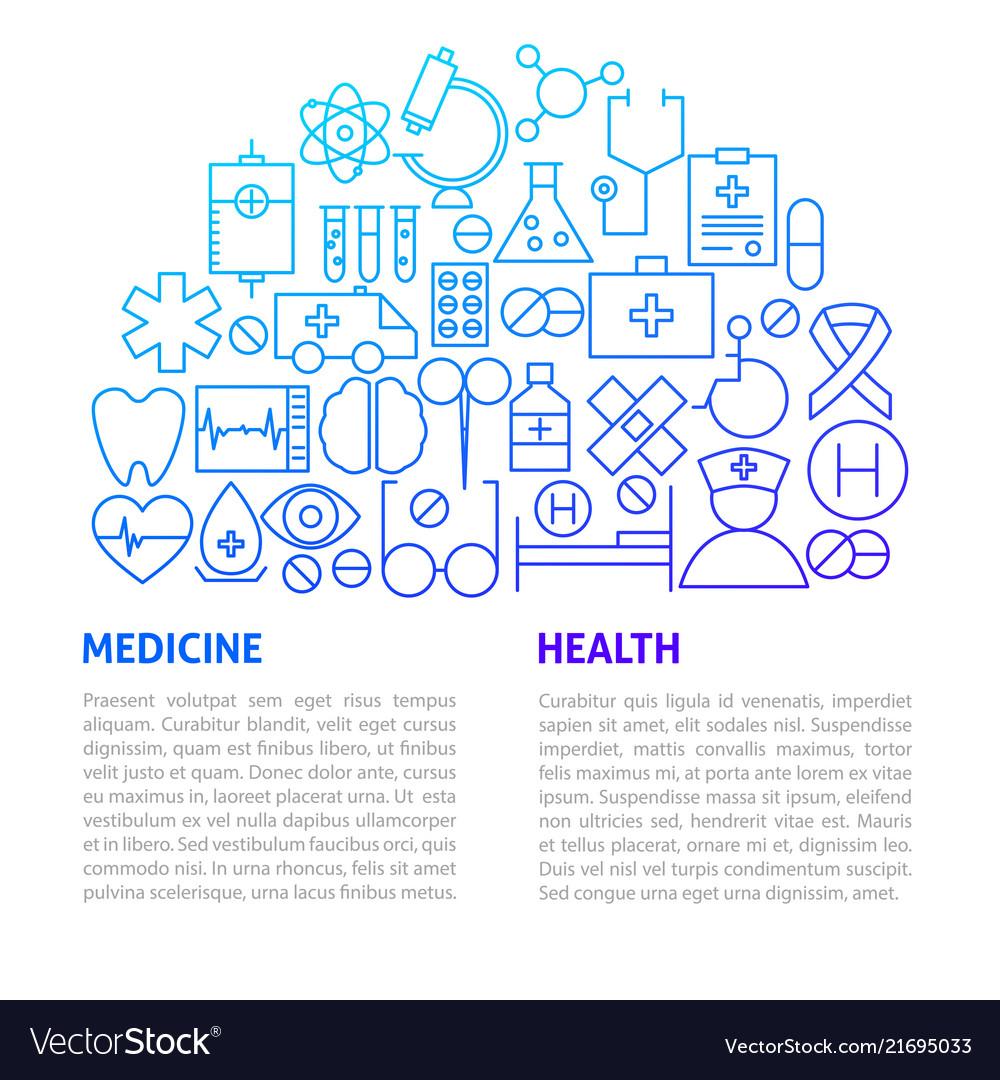 Medicine health line template