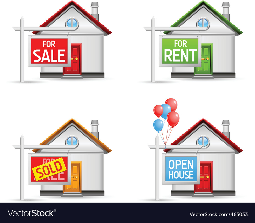 Real estate icons set 3