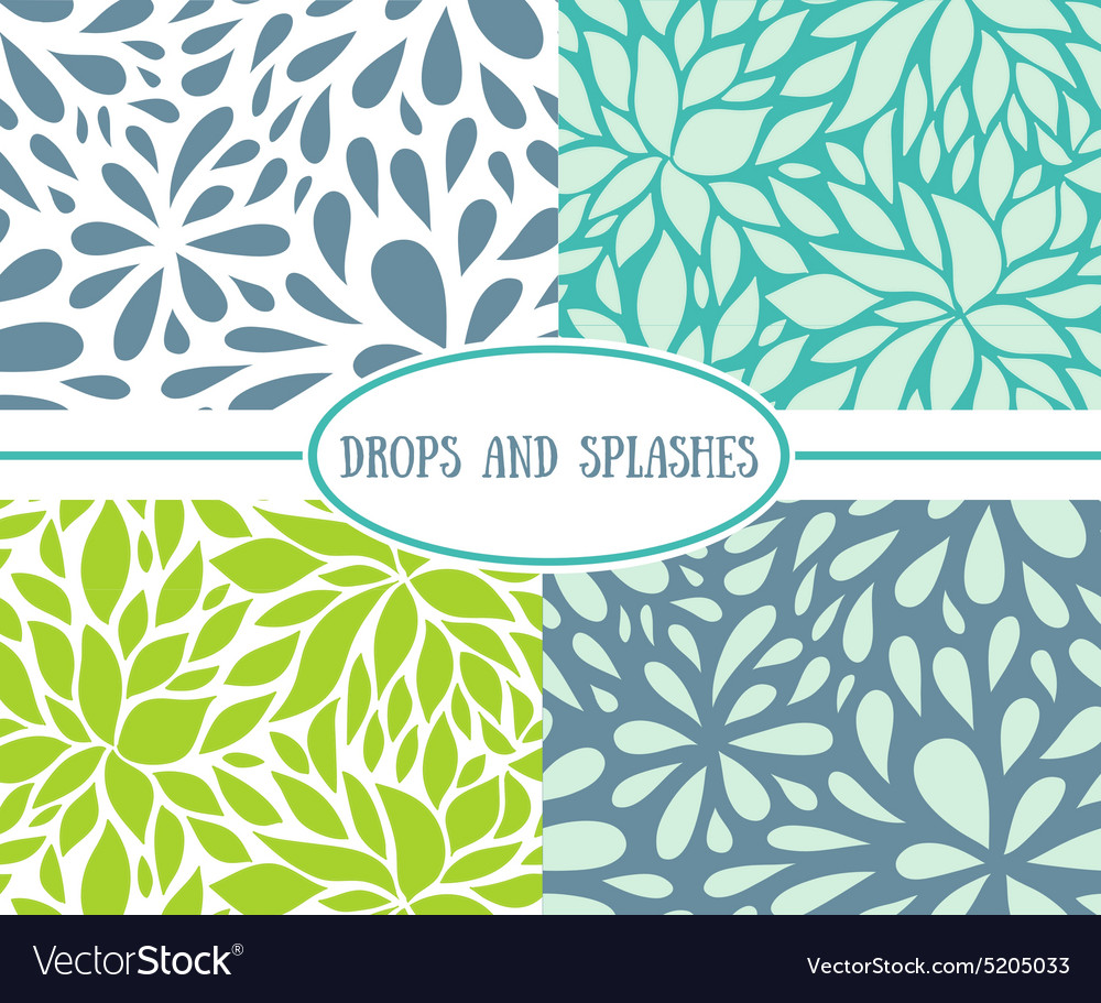 Drops Patterns New Inspiration