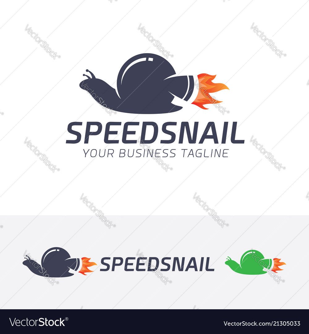 Speed snail logo design