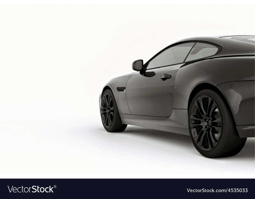 Very fast sport black car vector image