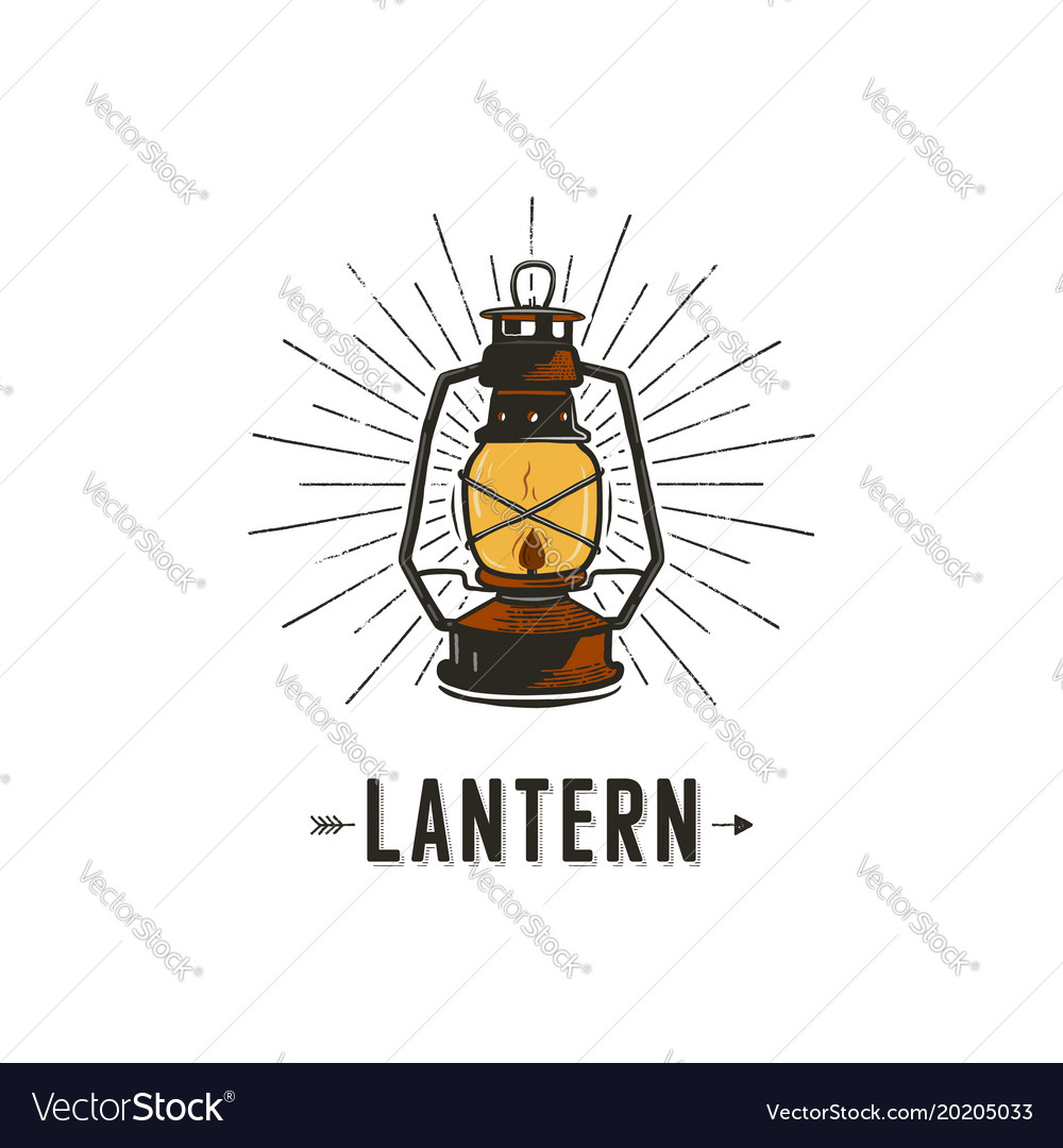 Vintage hand-drawn lantern concept perfect for