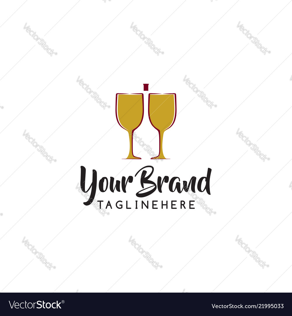 Wine logo design template of icon