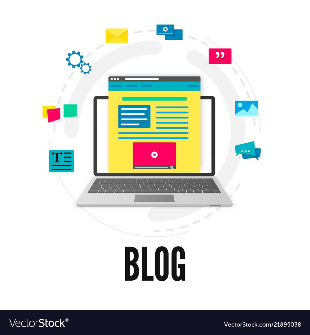 Blogging concept social media and