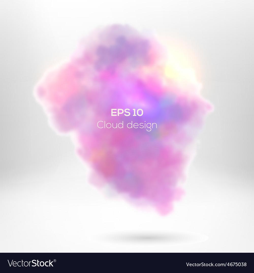 Creative cloude smoke for your design