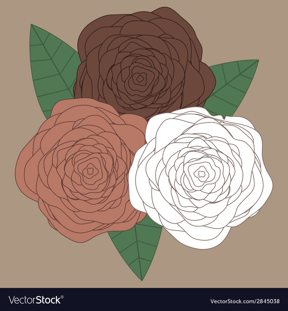 Decorative floral background with flowers of roses vector image