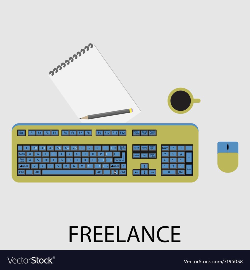 Freelance icon flat design