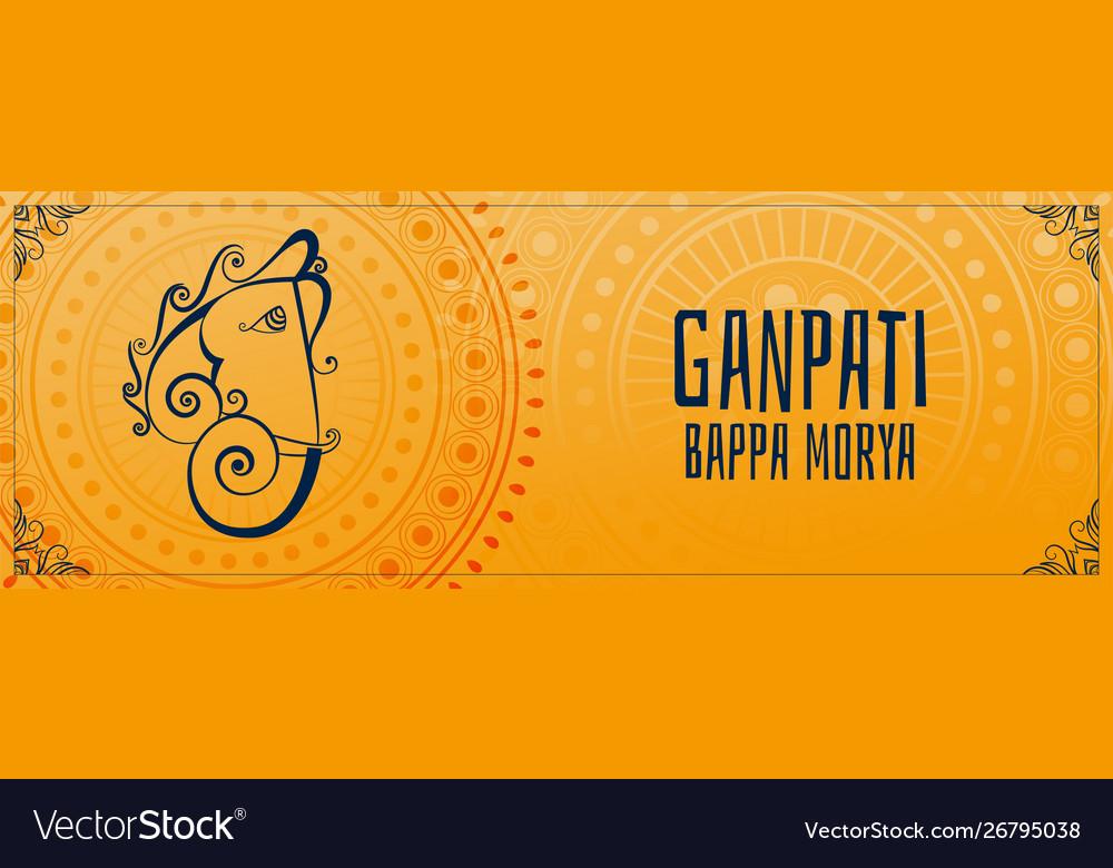 Ganesh chaturthi mahotsav indian festival banner