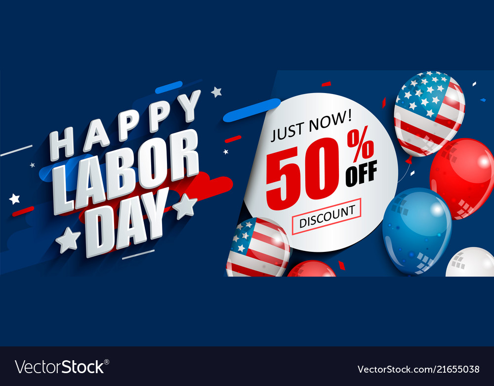 Labor day 50 percent off sale promotion