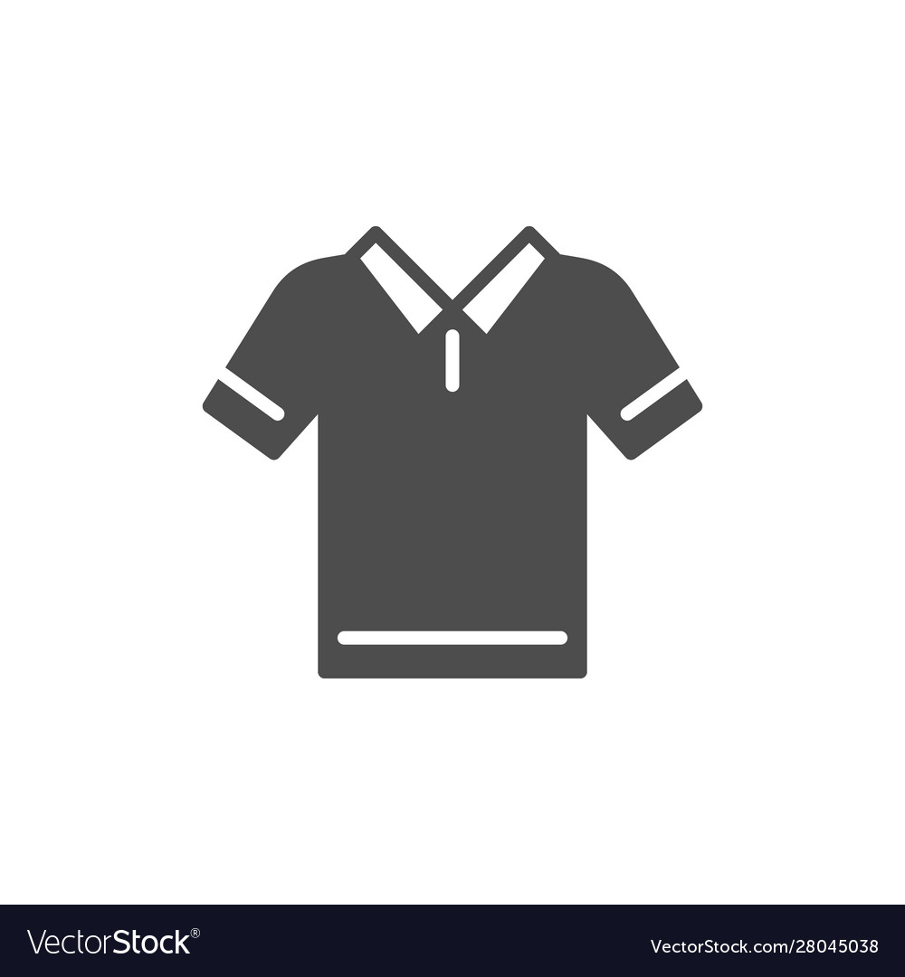 Polo t-shirt glyph modern icon