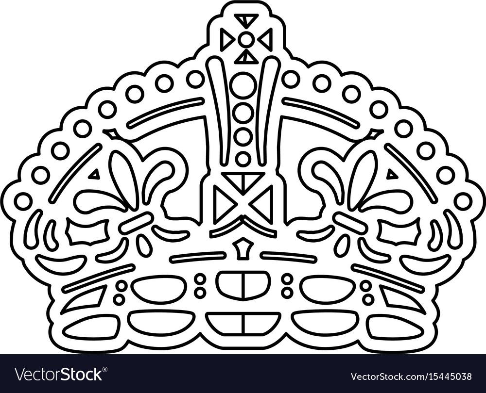 Queen crown symbol Royalty Free Vector Image - VectorStock