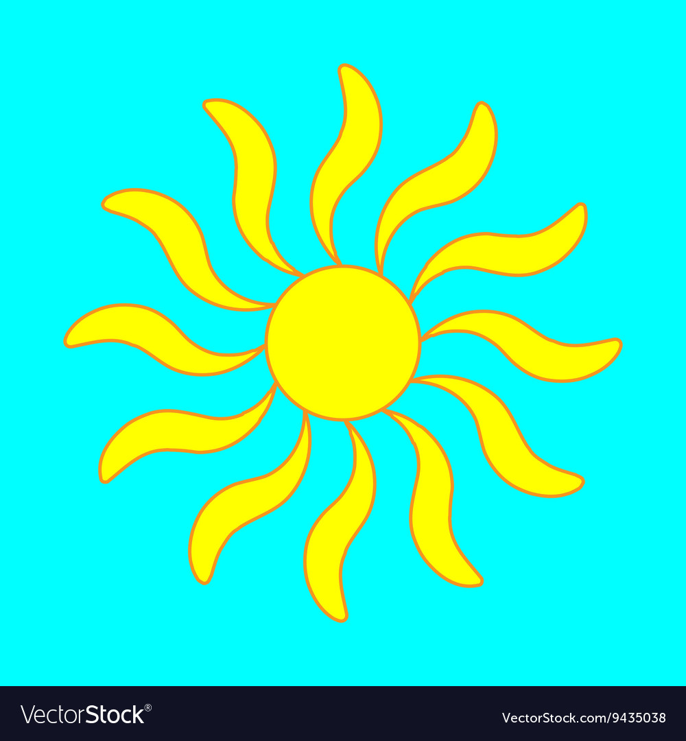 Sign of sun 305 vector image
