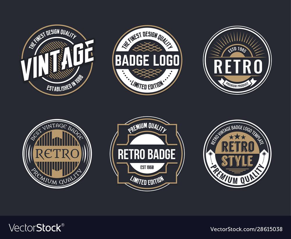 Variety decorative badges set