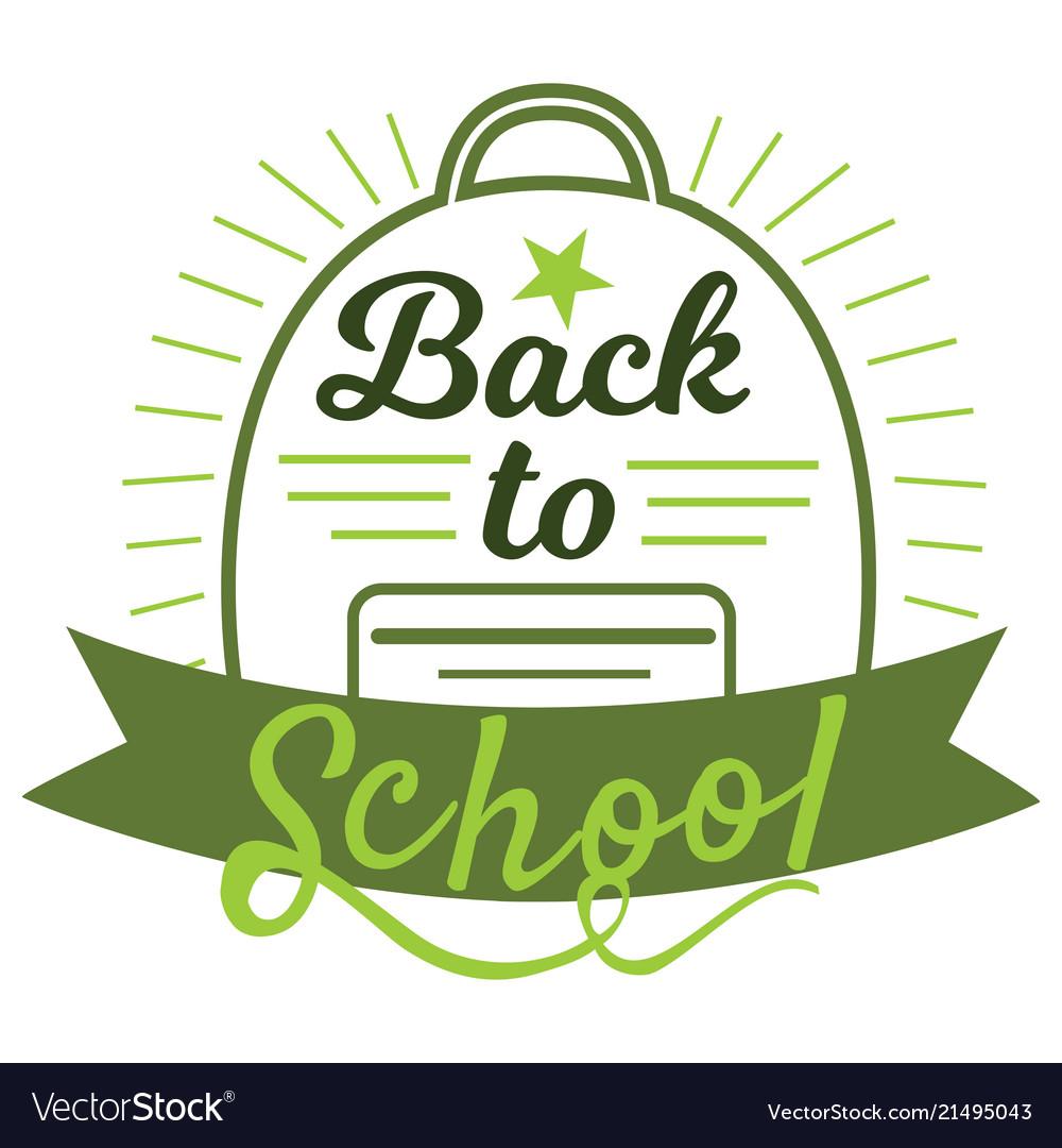 Back to school badge cool trendy school logo