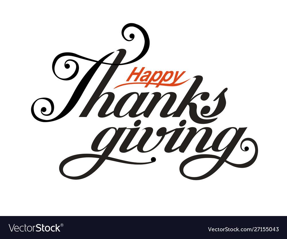 Black inscription happy thanksgiving day