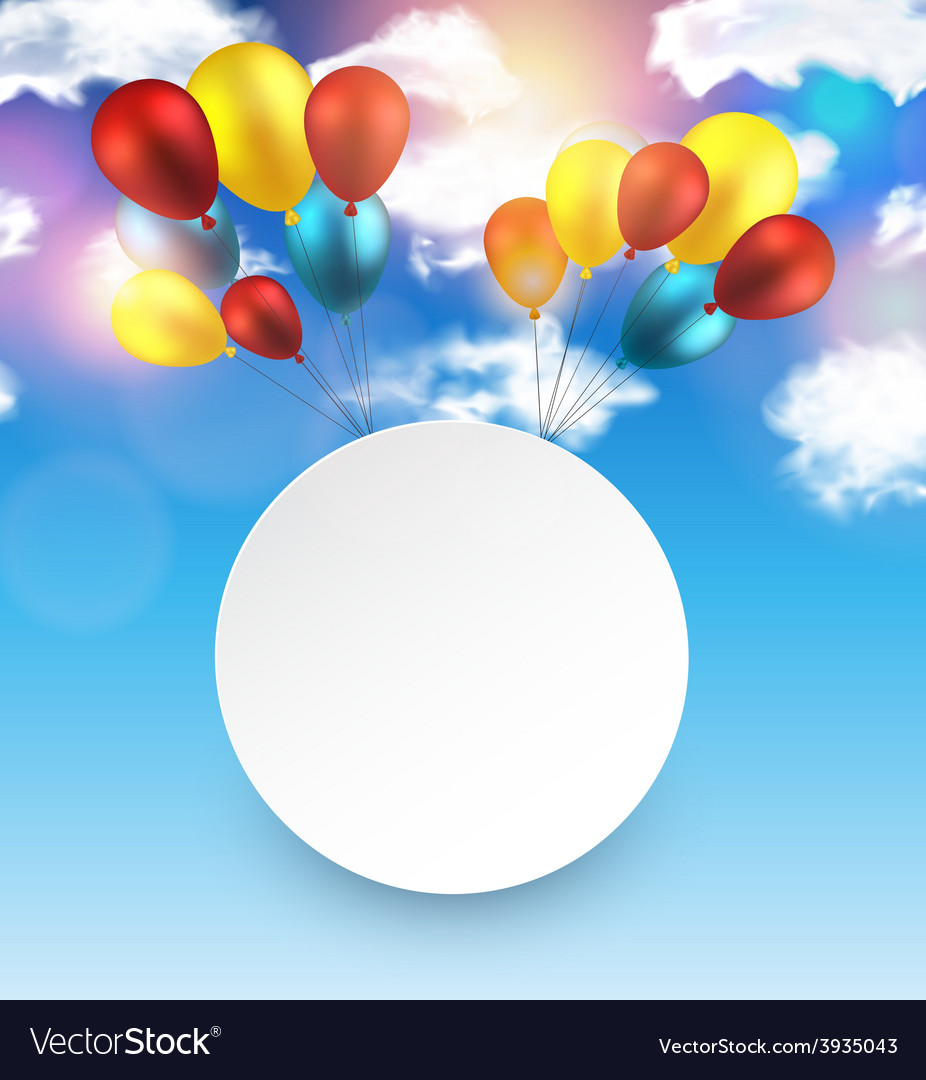 Celebrate frame background with balloons