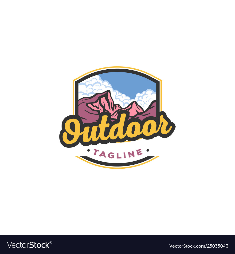 Mountain outdoor adventure graphic for t shirt