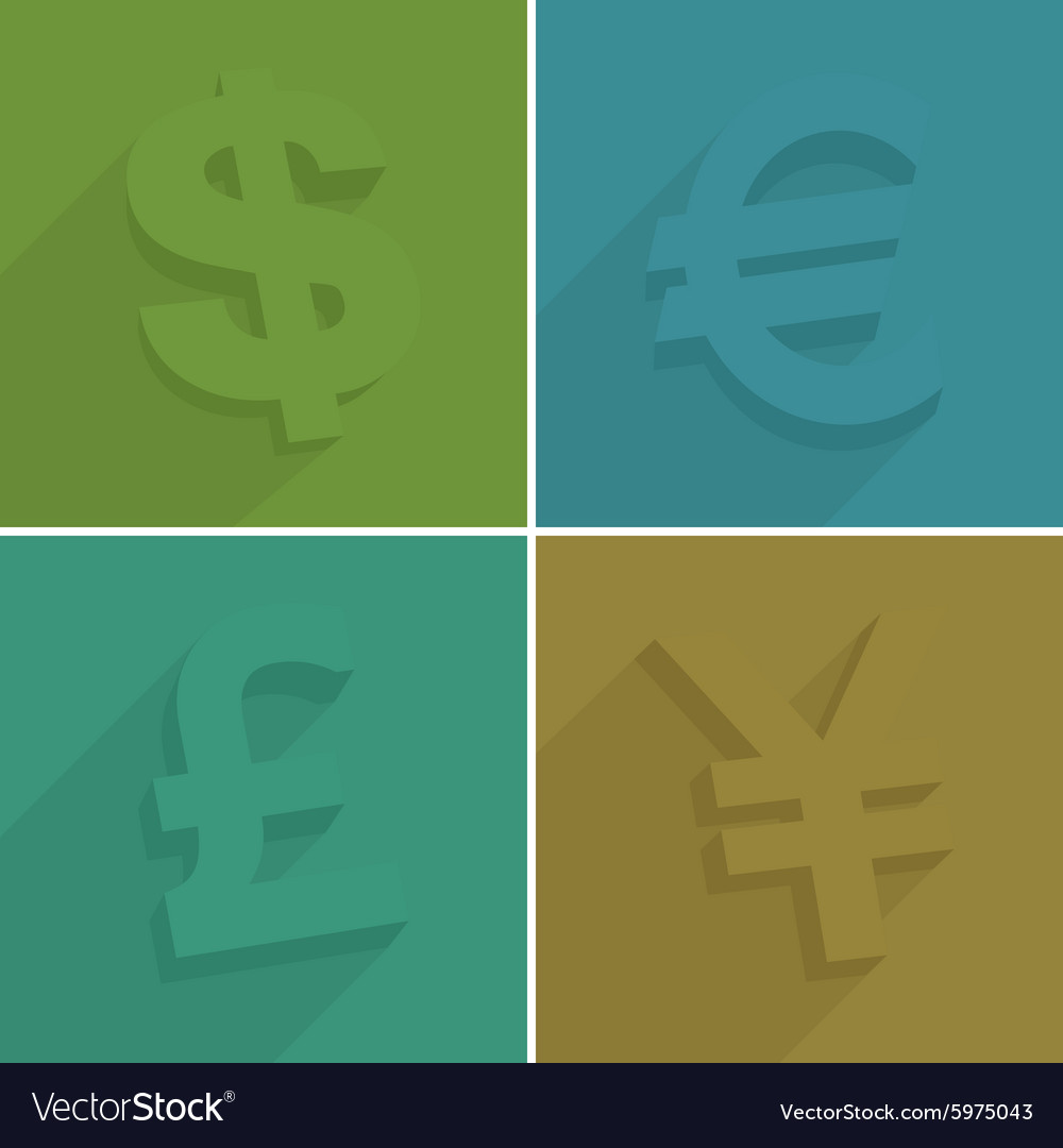 Set of money symbols