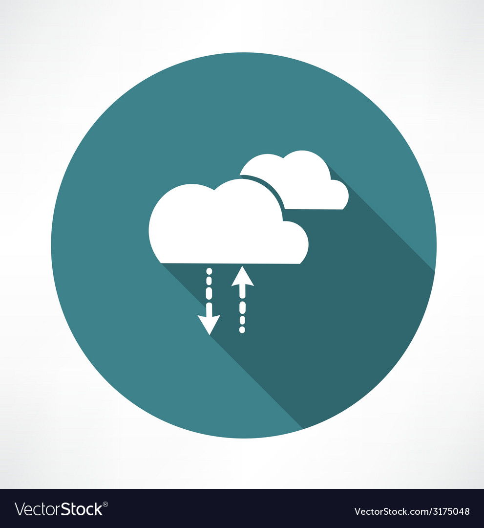 Cycle of precipitation icon vector image