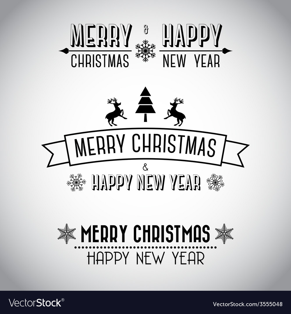 Decorative Merry Christmas Signs Royalty Free Vector Image