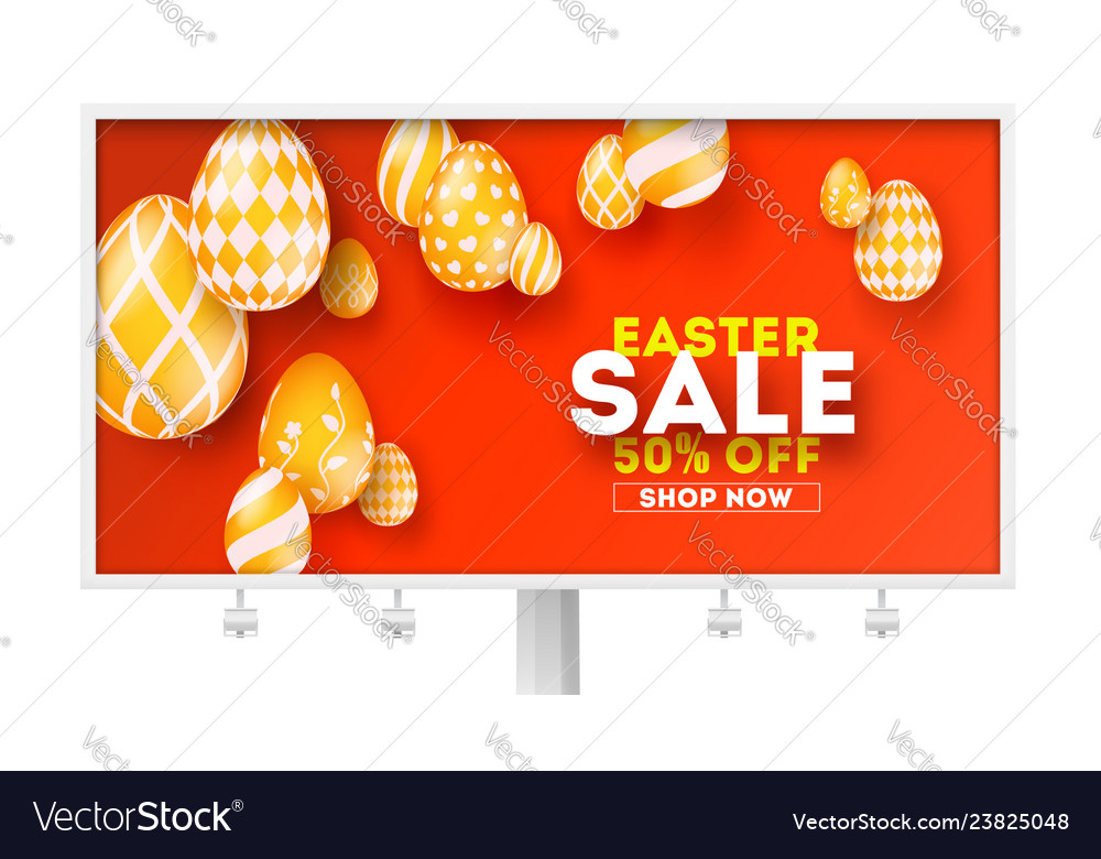 Easter sale special holiday offer billboard