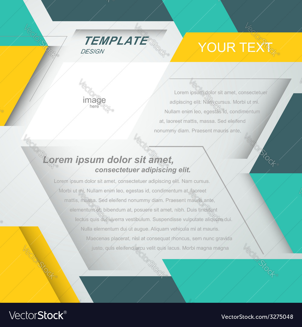 Mock-up flyer cover design geometric abstract vector image