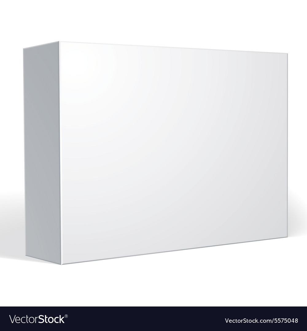 Package white box design isolated on white