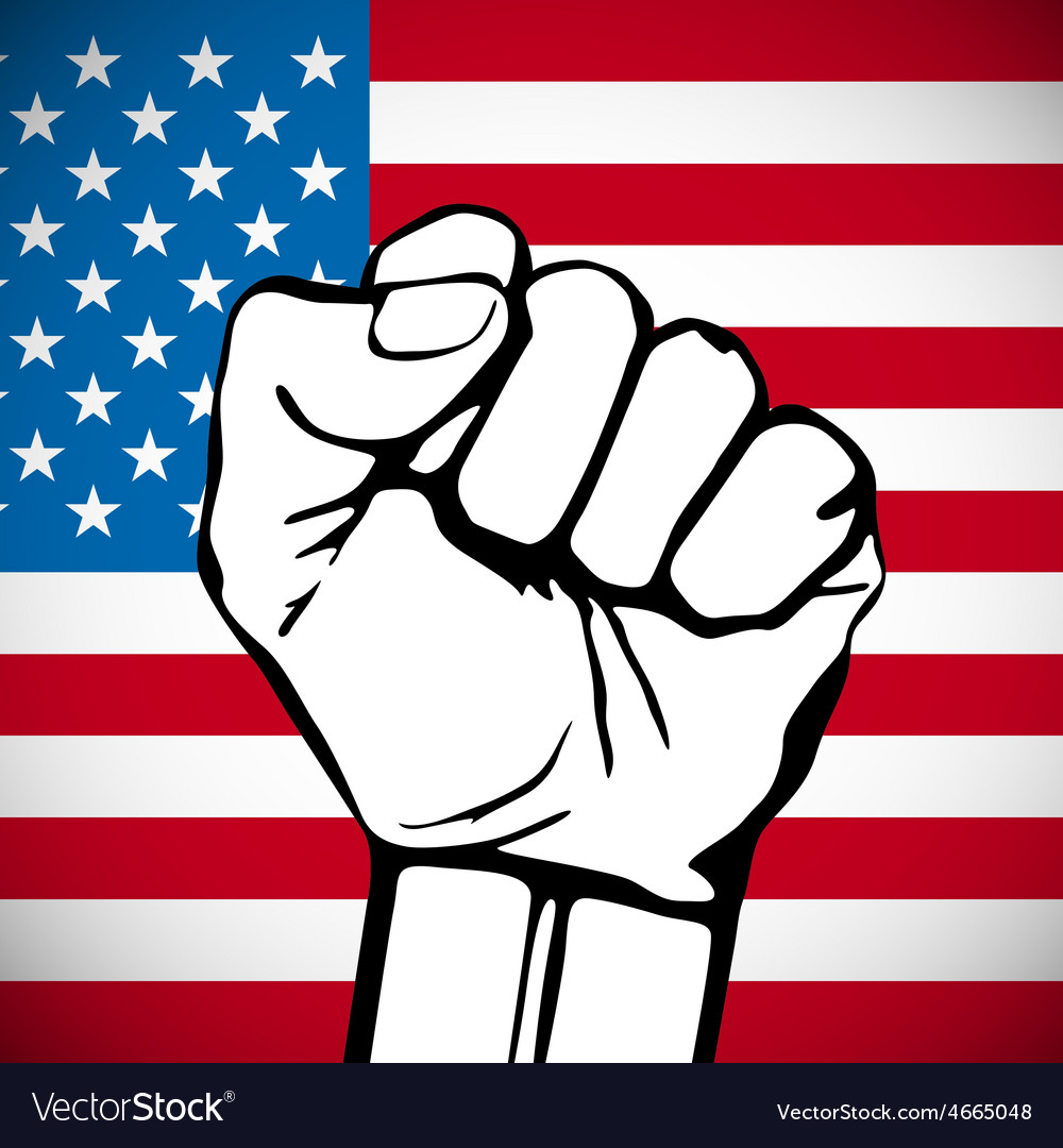 Power of Liberty concept with USA flag background