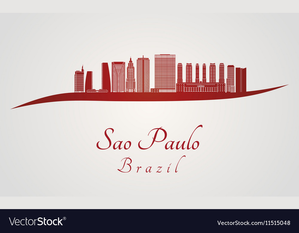 Sao Paulo V2 skyline in red