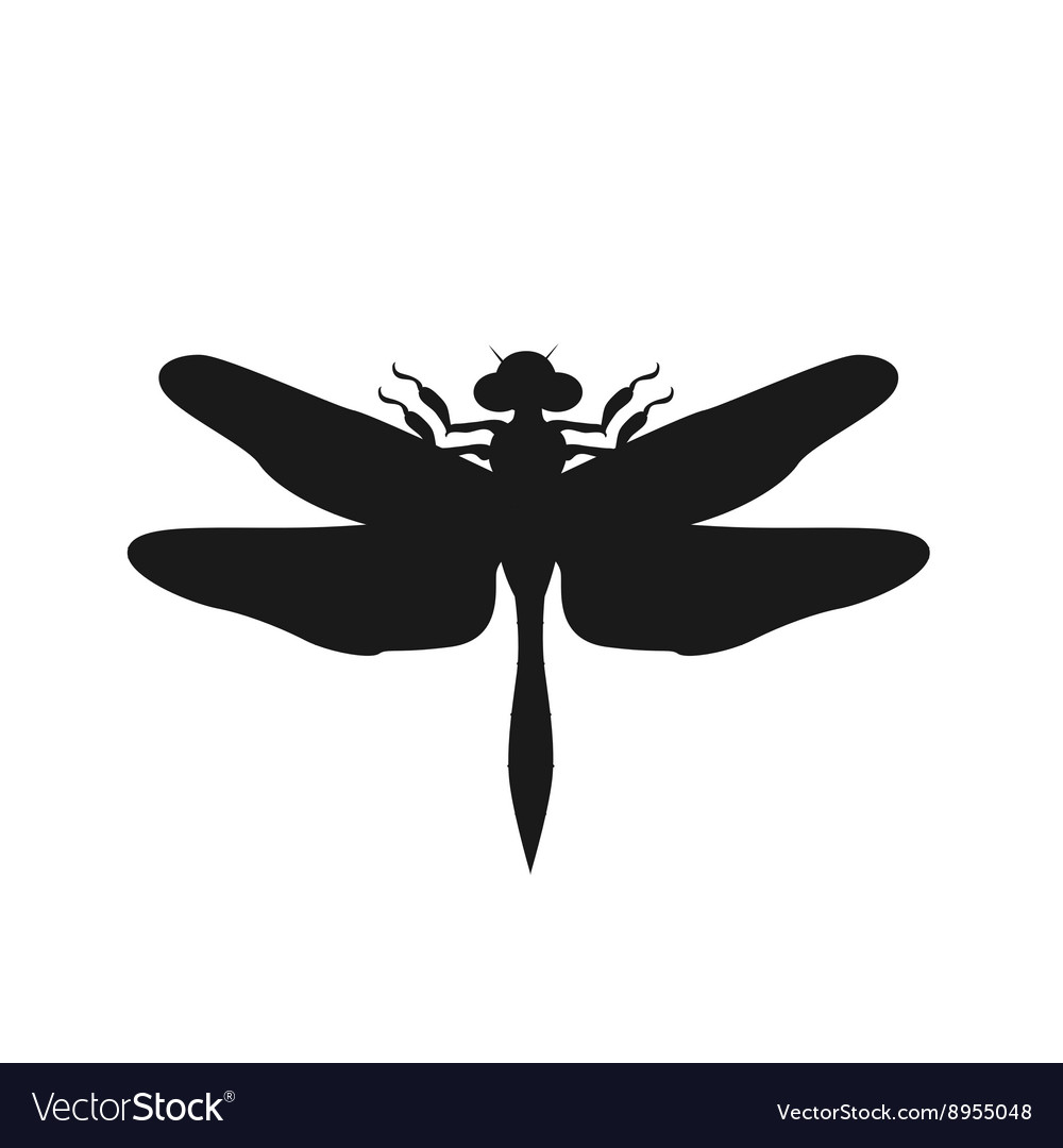 silhouette of a dragonfly royalty free vector image
