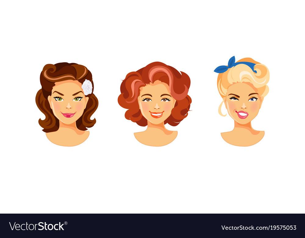 Female hairstyle retro