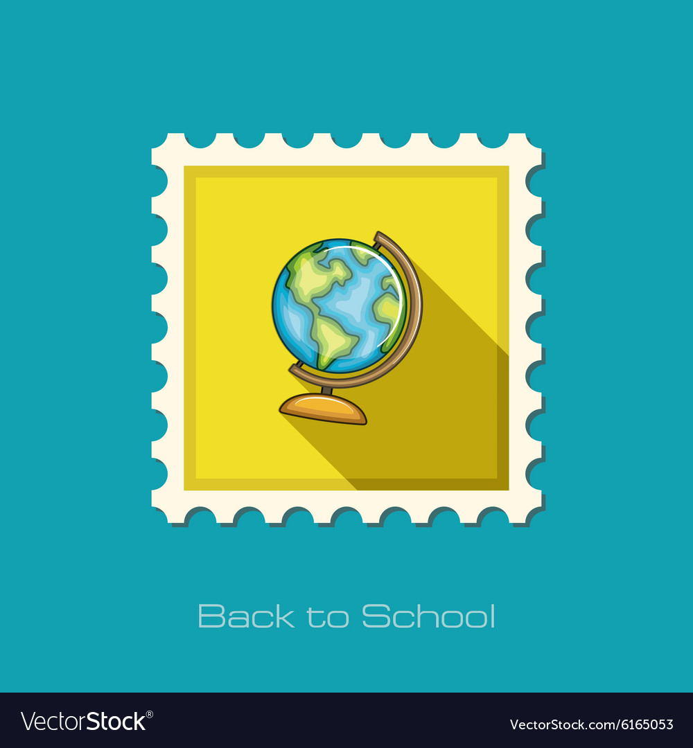 Globe flat stamp Vector Image