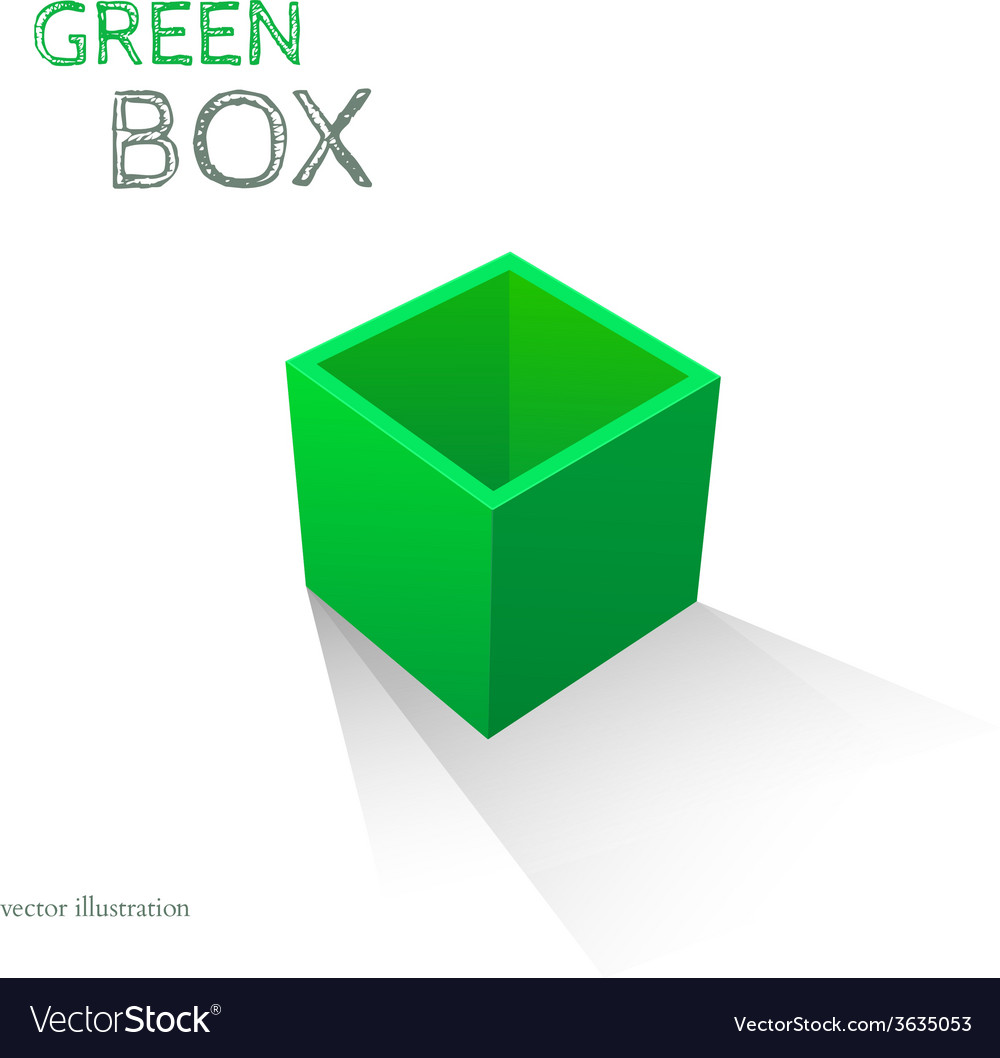 Green Box isolated on white background