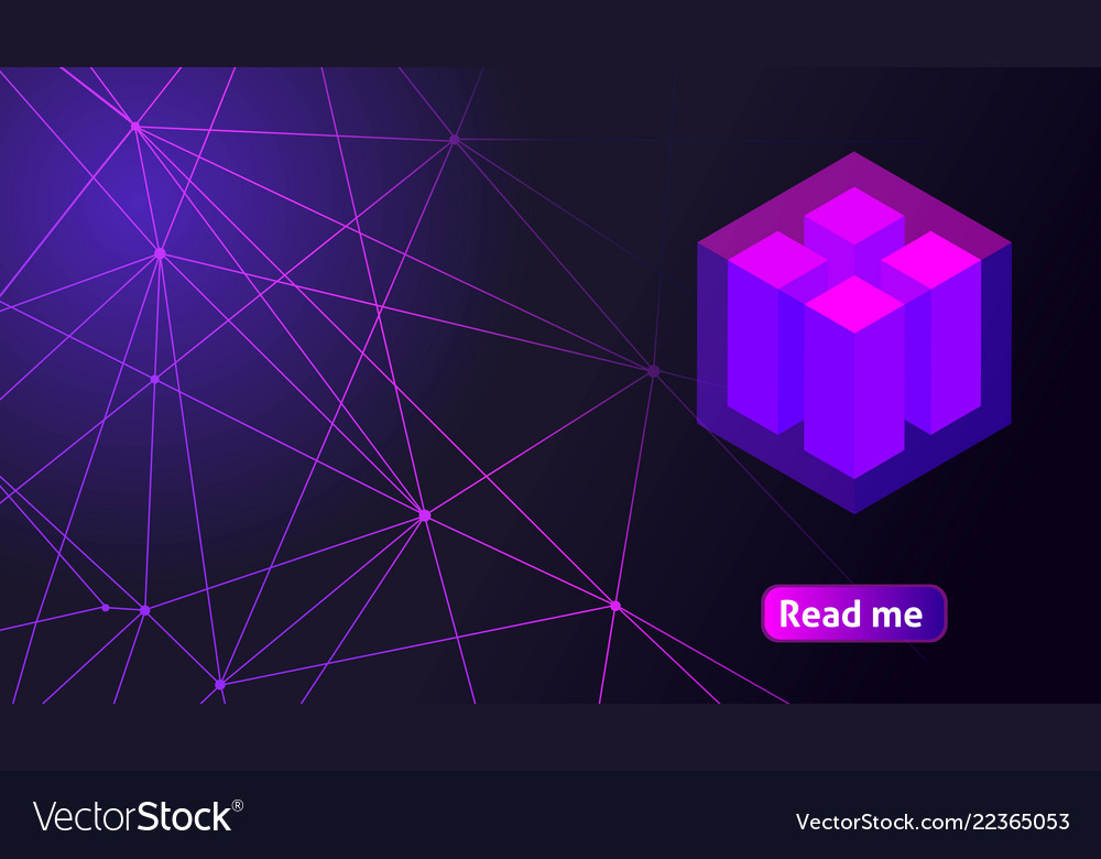 Isometric holographic geometric icon crypto curren