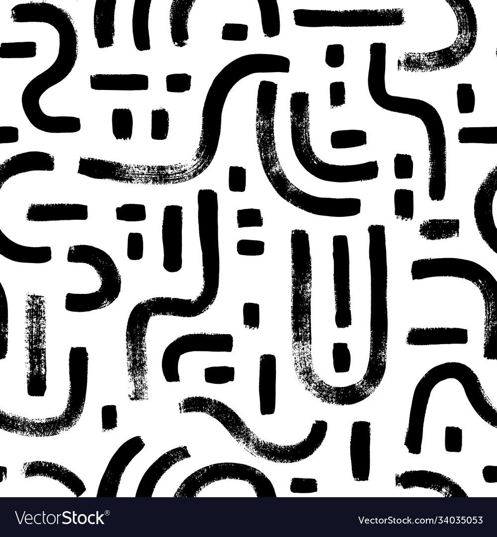 Labyrinth and mosaic seamless pattern