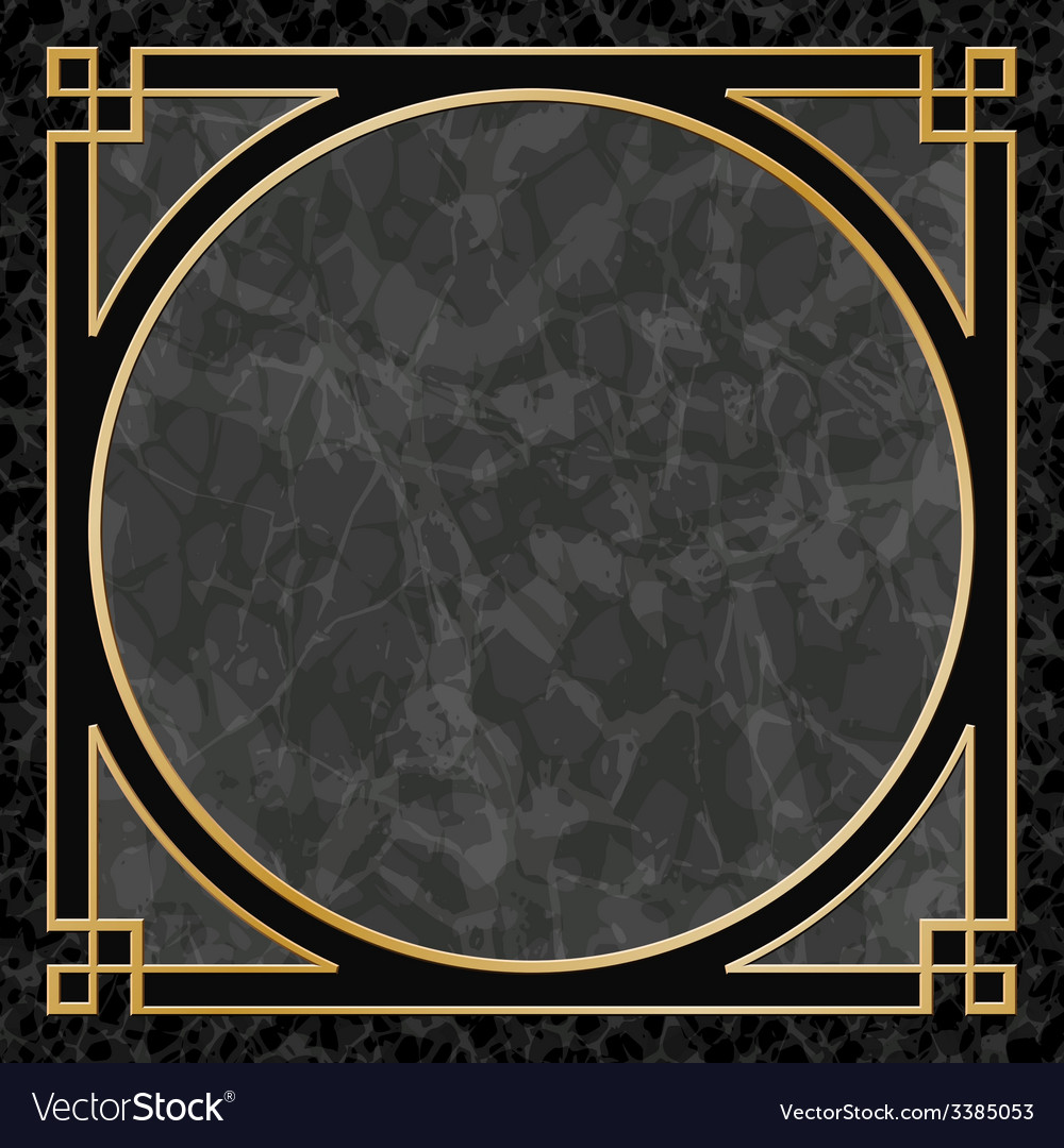 Marble Background with Frame Border vector image
