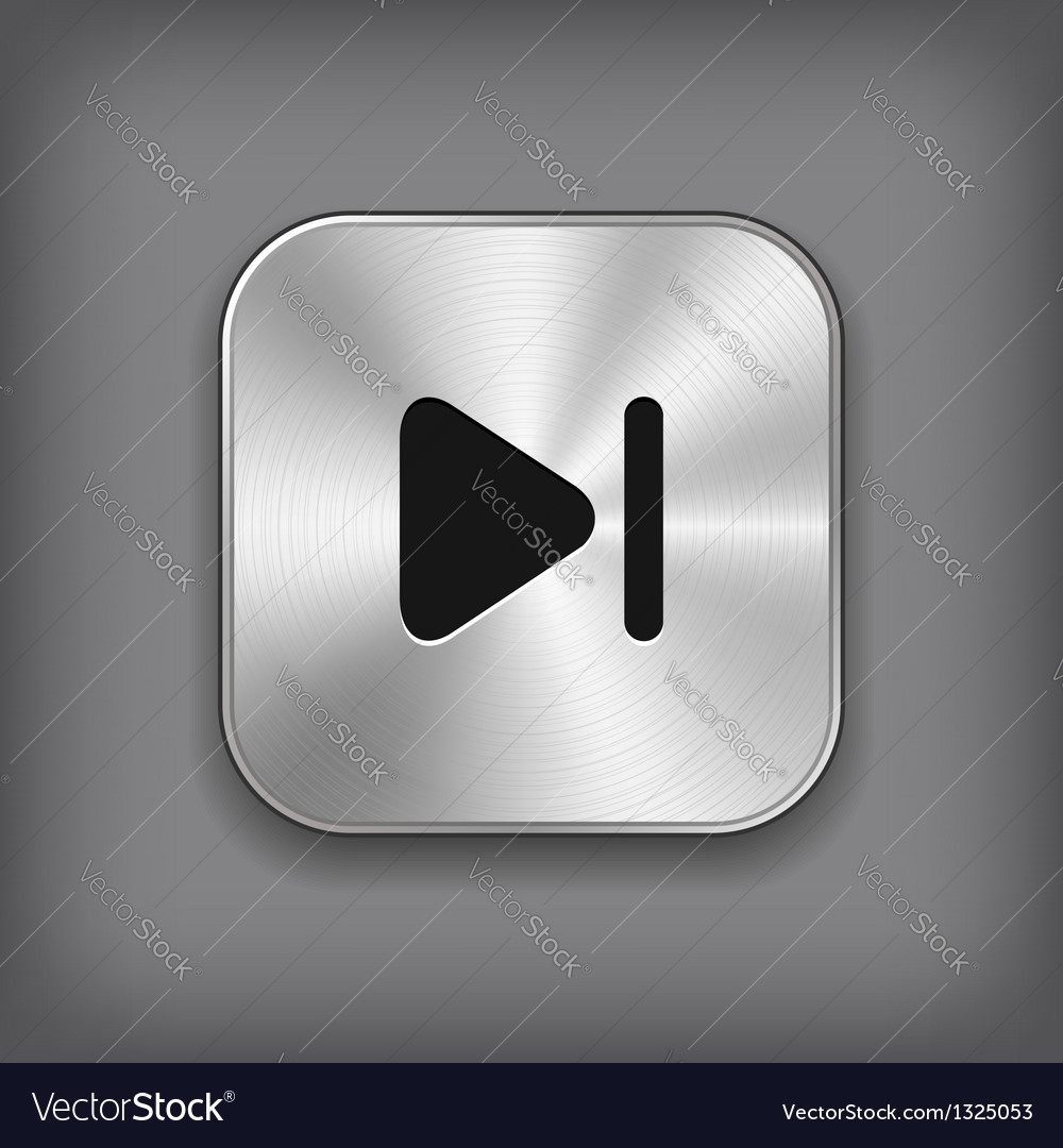 Media player icon - metal app button